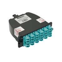 Panduit FC2XN-24-10B2 LC/MPO 1pcs Black,Turquoise fiber optic adapter