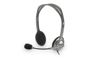 Logitech H111 Binaural Head-band Grey headset