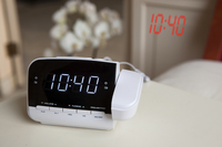 Salora CR618P Digital alarm clock Zwart, Wit wekker
