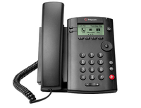 Polycom VVX 101 Wired handset 1lines LCD Black IP phone