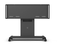 "Microsoft HV3-00002 84"" Portable flat panel floor stand Black flat panel floorstand"