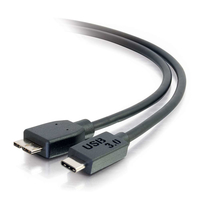 C2G 6ft, USB 3.0 Type C, Micro-USB B 1.8288m USB C Micro-USB B Male Male Black USB cable