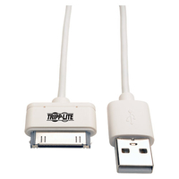 Tripp Lite USB - Apple 30-Pin, 1m 1m USB Apple 30-pin White mobile phone cable