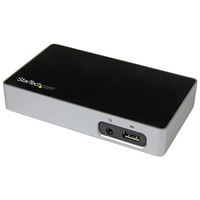 StarTech.com USB3VDOCKD USB 3.0 (3.1 Gen 1) Type-B Black,Silver notebook dock/port replicator