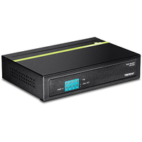 Trendnet TPE-S50 Unmanaged network switch L2 Fast Ethernet (10/100) Power over Ethernet (PoE) Black network switch