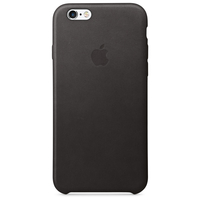 Apple Coque en cuir iPhone 6s - Noir