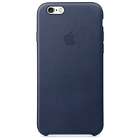 Apple Coque en cuir iPhone 6s - Bleu nuit