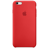 Apple Coque en silicone iPhone 6s - Rouge
