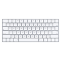 Apple MLA22LB/A Bluetooth QWERTY Amerikaans Engels Zilver, Wit toetsenbord