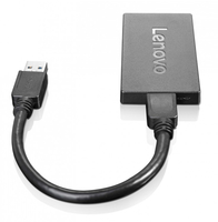 Lenovo 4X90J31021 USB DisplayPort Black cable interface/gender adapter
