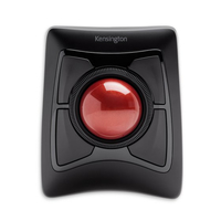 Kensington Wireless Trackball Bluetooth+USB Trackball Ambidextrous Black mice