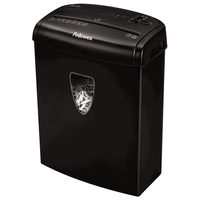 Fellowes Powershred H-7C Cross shredding 65dB Black Paper Shredder