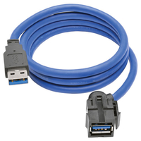Tripp Lite U324-003-KJ 0.91m USB A USB A Male Female Black, Blue USB cable