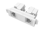 Vision TC3 2RJ45 2 x RJ-45 White socket-outlet