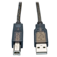 Tripp Lite USB A - USB B, m - m, 15.24m 15.24m USB A USB B Male Male Metallic, Silver, Translucent USB cable