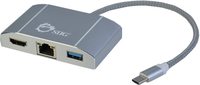 Siig JU-H30712-S1 USB 3.0 (3.1 Gen 1) Type-C 5000Mbit/s Silver interface hub