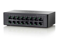 Cisco SF100D-16P-EU-RF Power over Ethernet (PoE) Black network switch