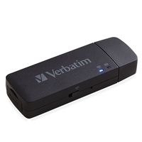Verbatim MediaShare Mini USB 2.0/Wi-Fi Black card reader