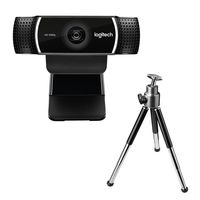 Logitech C922 1920 x 1080pixels USB Black webcam
