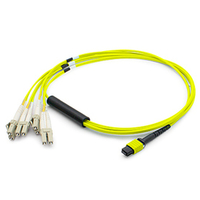 Add-On Computer Peripherals (ACP) ADD-MPO-4LC12M9SMF 12m MPO/MTP 4x LC Yellow fiber optic cable