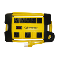 CyberPower DS806MYL Outdoor 8AC outlet(s) 1.82m Yellow power extension