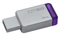 Kingston Technology DataTraveler 50 8GB 8GB USB 3.0 (3.1 Gen 1) USB Type-A connector Purple, Silver USB flash drive