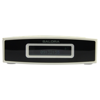 Salora CR624DAB Digital alarm clock Zwart, Wit wekker