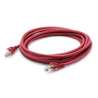 Add-On Computer Peripherals (ACP) ADD-2FCAT6A-RED 0.6m Cat6a U/UTP (UTP) Red networking cable