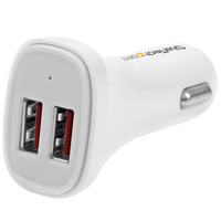 StarTech.com USB2PCARWHS Auto White mobile device charger