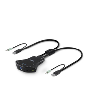 Belkin F1DN102K-3UK Black KVM switch
