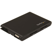 StarTech.com 2SD4FCRU3 USB 3.0 Black card reader