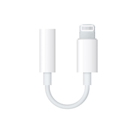 Apple MMX62ZM/A Lightning 3.5mm Wit kabeladapter/verloopstukje