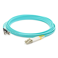 Add-On Computer Peripherals (ACP) ADD-ST-LC-40M5OM3 40m LC ST Turquoise fiber optic cable