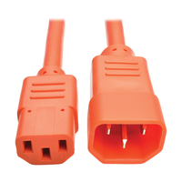 Tripp Lite P004-003-AOR 0.9m C13 coupler C14 coupler Orange power cable