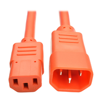 Tripp Lite P005-006-AOR 1.8m C14 coupler C13 coupler Orange power cable