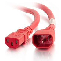 C2G 17517 3m C14 coupler C13 coupler Red power cable