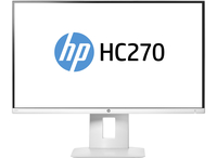 "HP HC270 Healthcare Edition 27"" Wide Quad HD IPS White computer monitor"