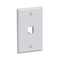 Panduit CFP1BL Grey switch plate/outlet cover