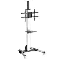"StarTech.com STNDMTV70 70"" Portable flat panel floor stand Black,Stainless steel flat panel floorstand"