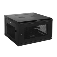CyberPower CR6U61001 Wall mounted 6U Black rack