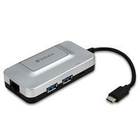 Verbatim 99354 USB 3.0 (3.1 Gen 1) Type-C 5000Mbit/s Black,Grey interface hub