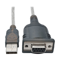 Tripp Lite U209-18N-NULL USB A DB9 Black cable interface/gender adapter