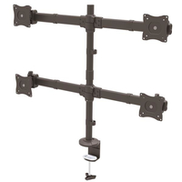 "StarTech.com ARMQUAD 27"" Clamp Black flat panel desk mount"