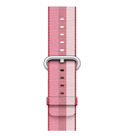 Apple Bandje van geweven nylon - Bessenrood (38 mm)