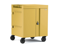 Bretford CUBE Cart Portable device management cart Yellow