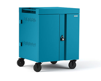 Bretford CUBE Cart Portable device management cart Turquoise