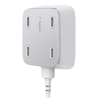 Belkin Family RockStar Indoor Silver,White mobile device charger