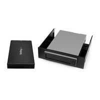 "StarTech.com S251BU31REM HDD/SSD enclosure 2.5"" Black storage enclosure"