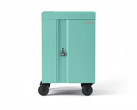 Bretford CUBE Cart Mini Portable device management cart Turquoise