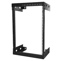StarTech.com RK15WALLO Wall mounted rack 15U 90kg Black rack
